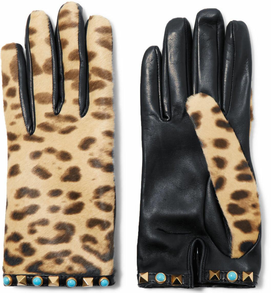 skinnhandskar leopard