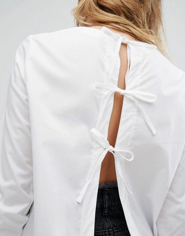 skjorta knyt i ryggen