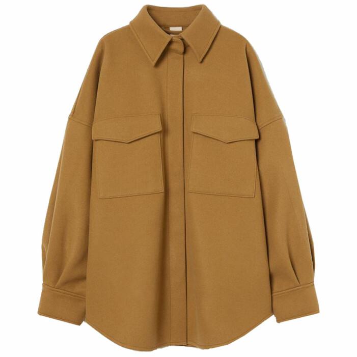 brun skjortjacka från H&M
