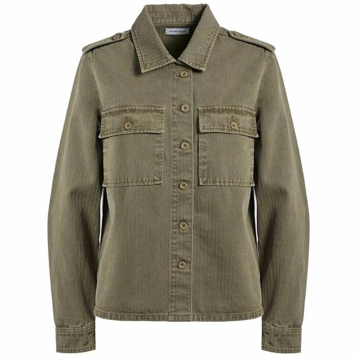 militärgrön skjortjacka