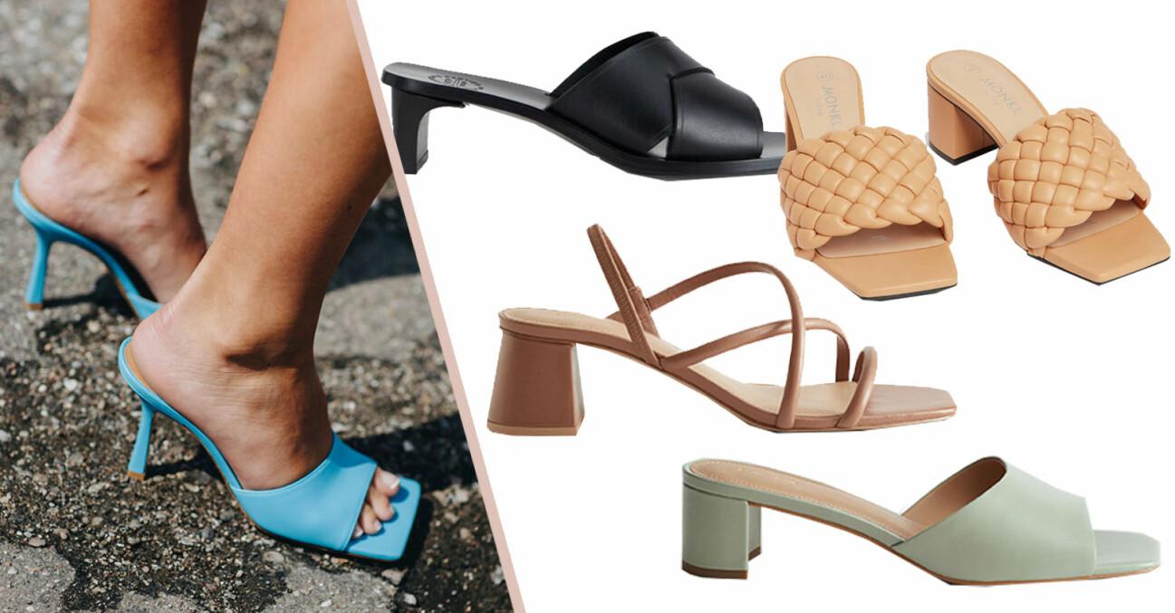 Skor med fyrkantig tå – sandaletter till sommaren 2021