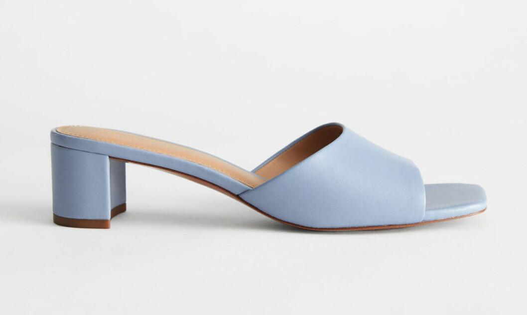 Ljusblå skor med fyrkantig tå för dam till 2020