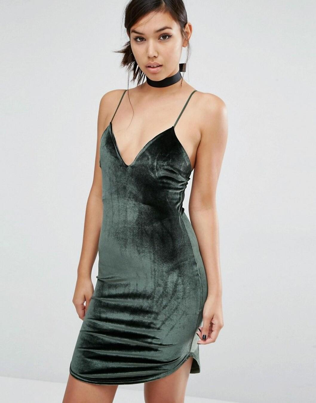 slipklänning sammet 2016