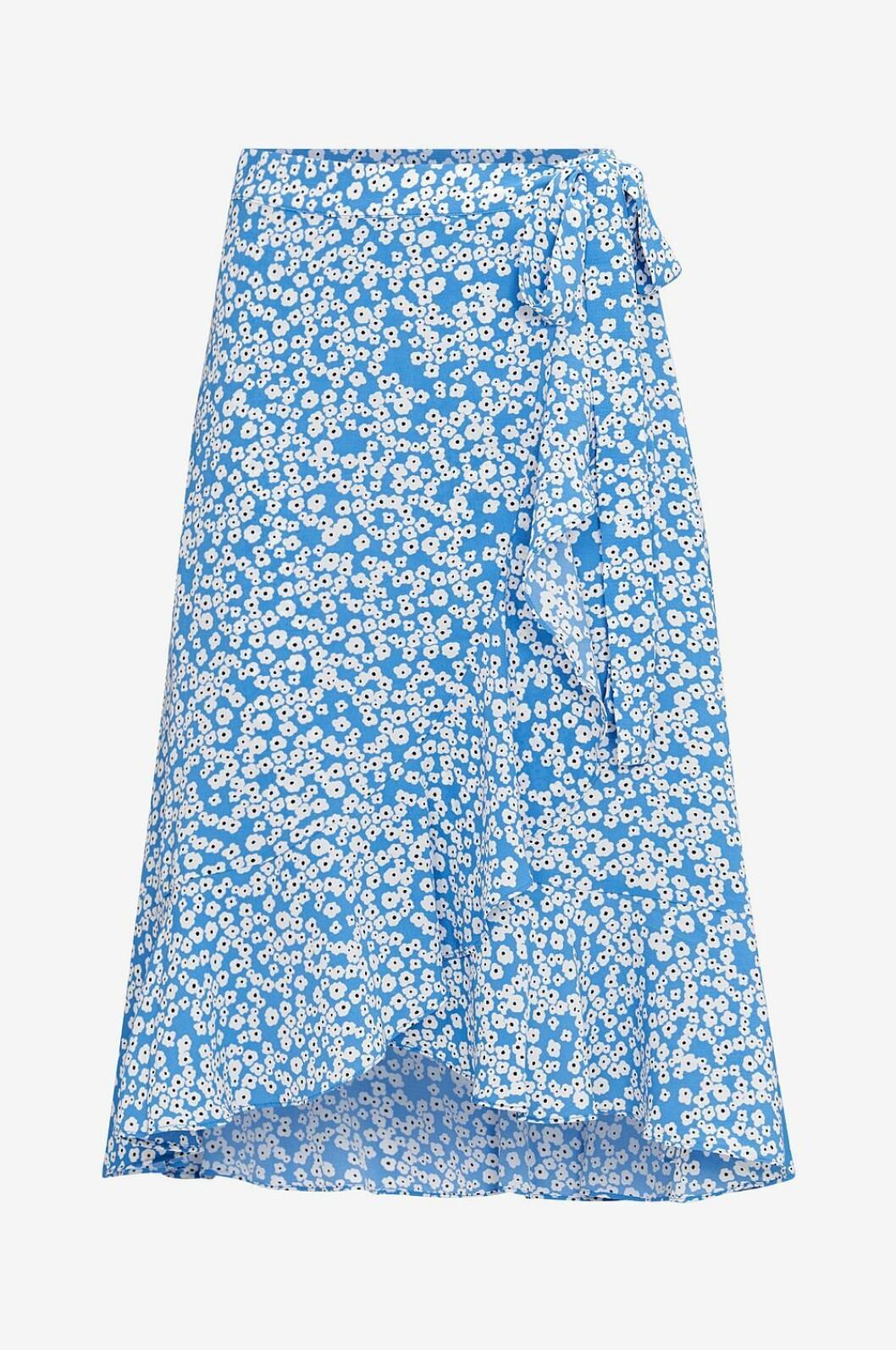 Blå småblommig kjol till 2019