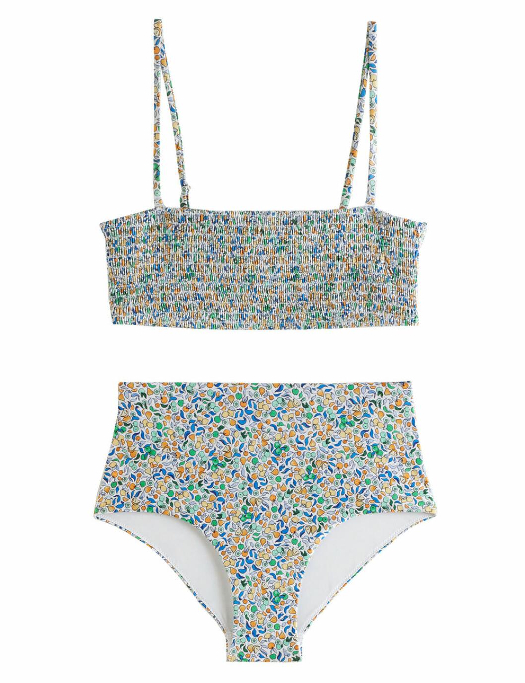 Bikini med smock och blommor för dam till 2020