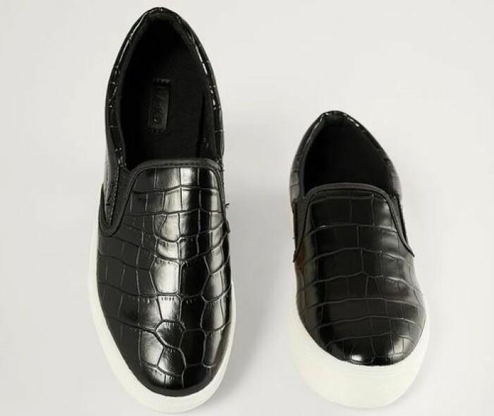 Svarta sneakers i slip in-modell från NA-KD