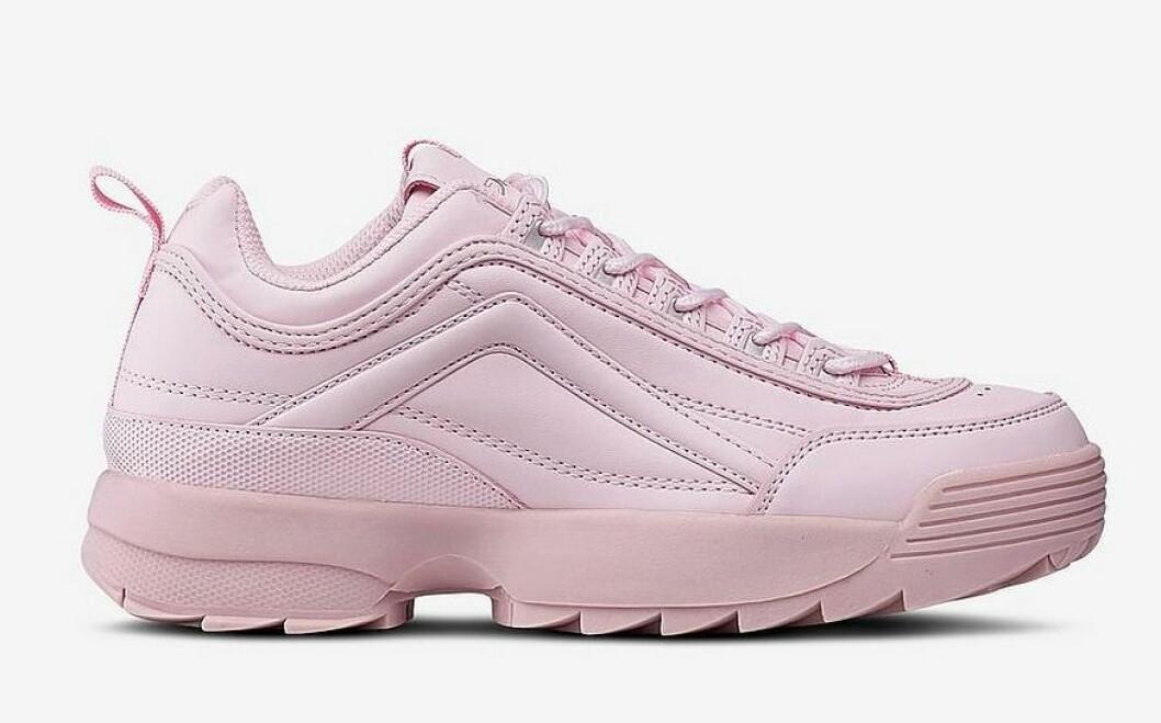 Höga, rosa sneakers till dam från Duffy för våren 2019