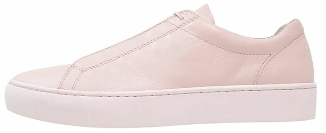 sneakers rosa skinn