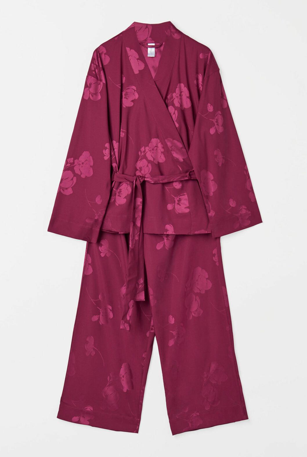 Röd snygg pyjamas för dam till 2019