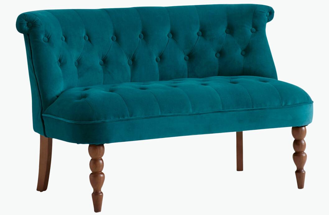 soffa grön sammet