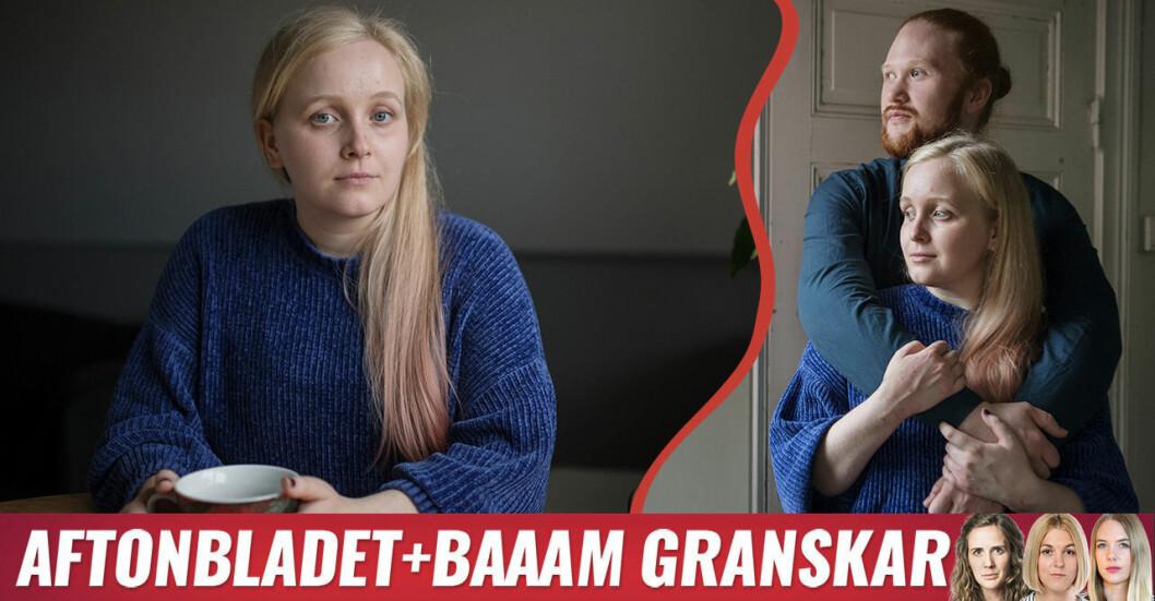 Sofie Hagfalk Woss och hennes partner Thomas Neidenmark om att ha vestibulit