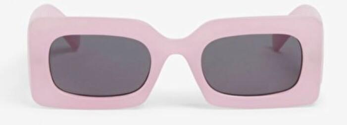 Rosa solglasögon från Monki