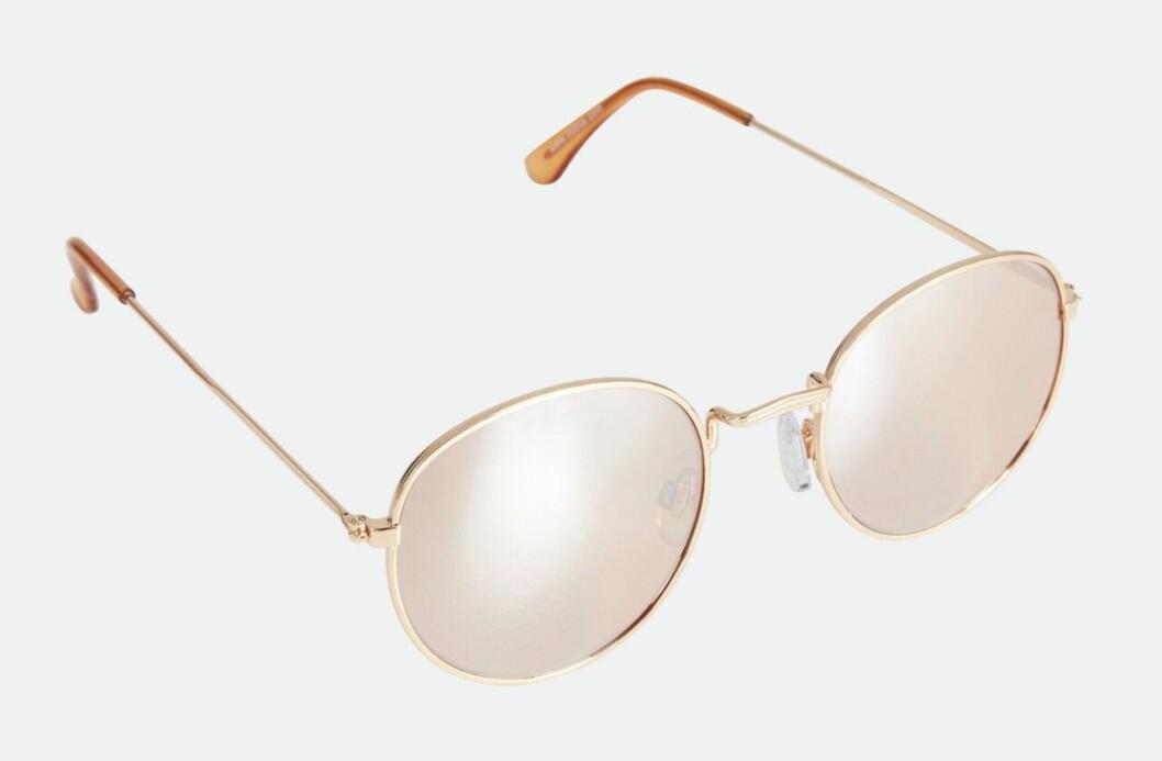 Rosa solglasögon med metallbåge för dam till 2020