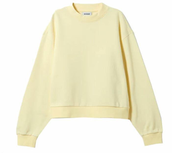Solgul sweatshirt från Weekday