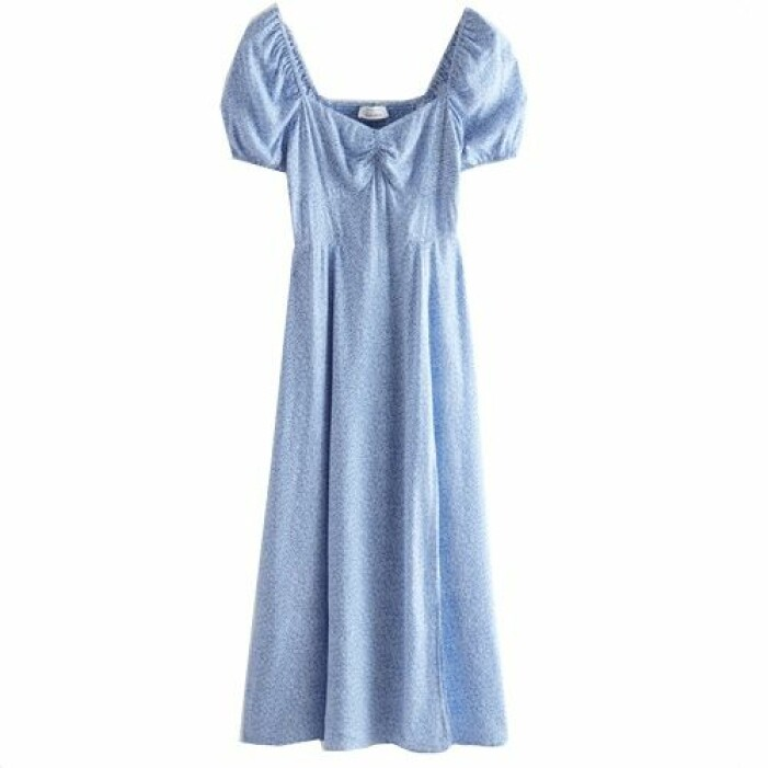 Blå klänning med puffärm från & Other Stories