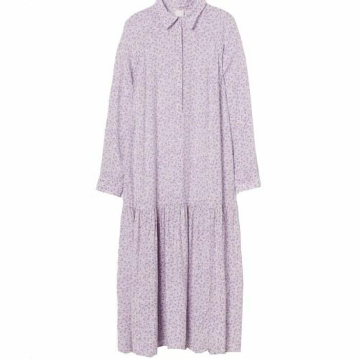 Lila sommarklänning skjortmodell från H&M