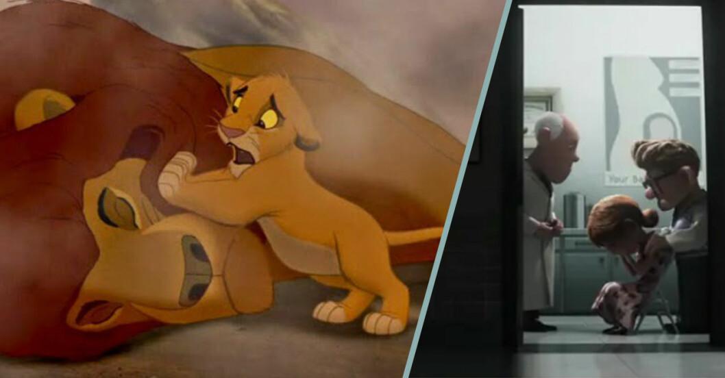 Mufasa dör i Lejonkungen och Ellie gråter i Upp.
