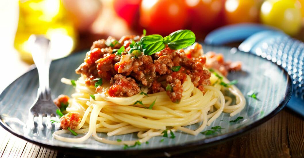 spagetti bolognese nyttigare köttfärssås