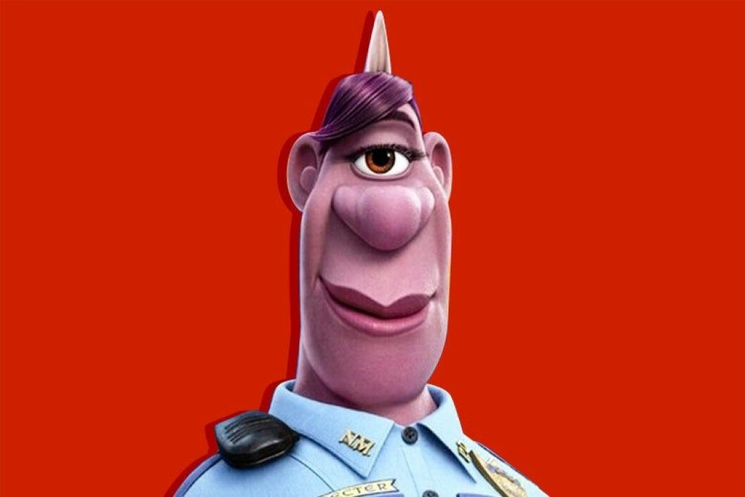En enögd polis med ett horn