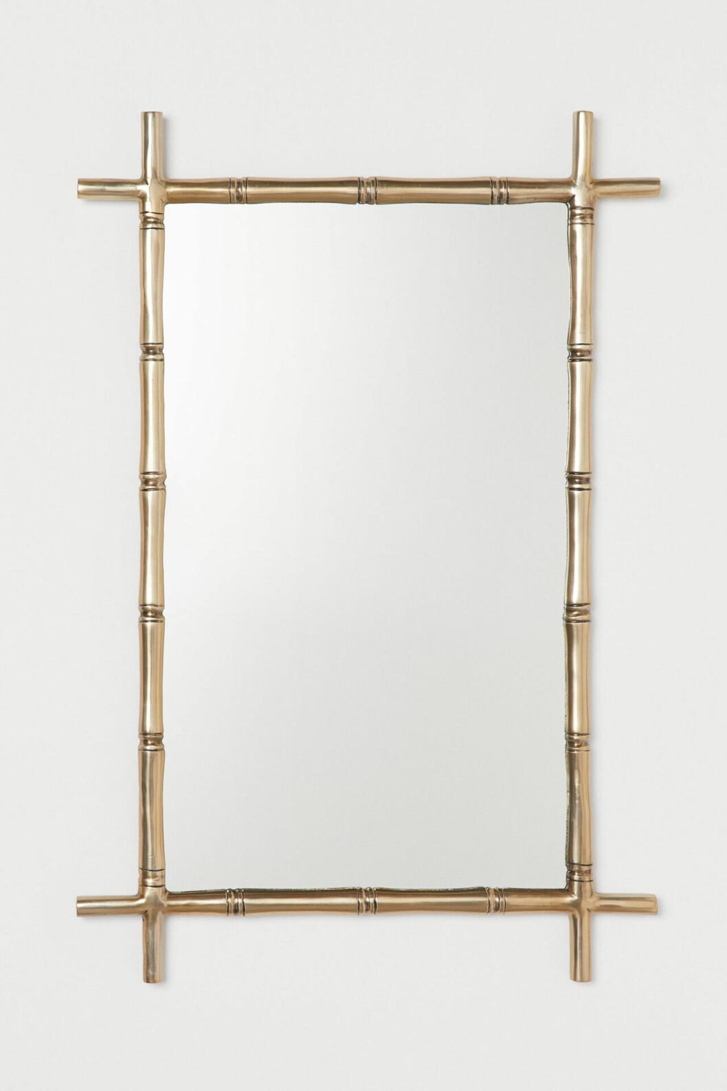 Fyrkantig spegel i mässing från H&M Home