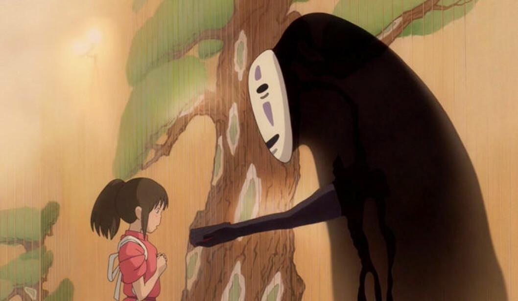 En bild ur den animerade filmen Spirited Away som har premiär på Filmstaden den 21 december.