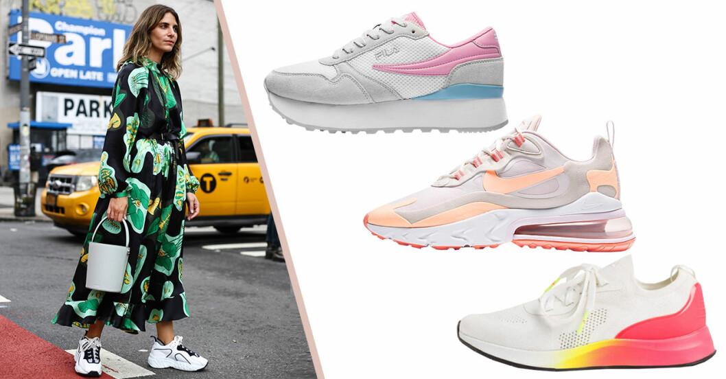 Sportiga sneakers för dam till våren och sommaren 2020