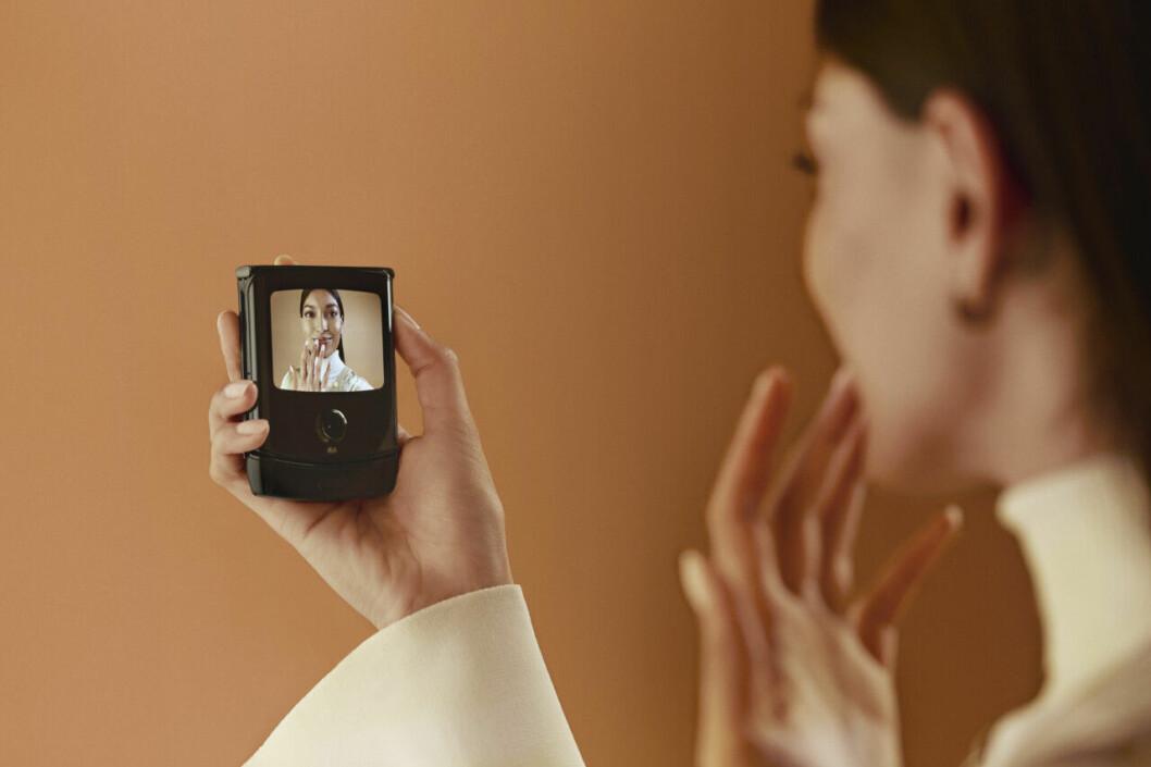 Motorola Razr skärm på framsida
