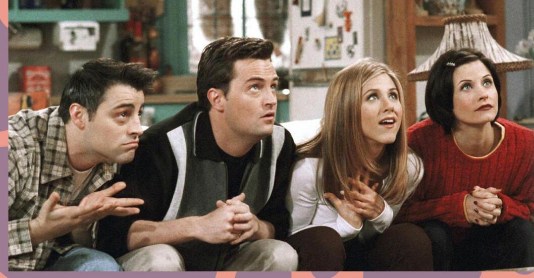 Joey, Chandler, Rachel och Monica i Vänner