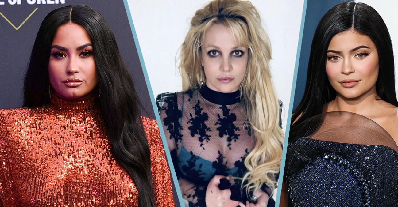 Demi Lovato, Britney Spears och Kylie jenner