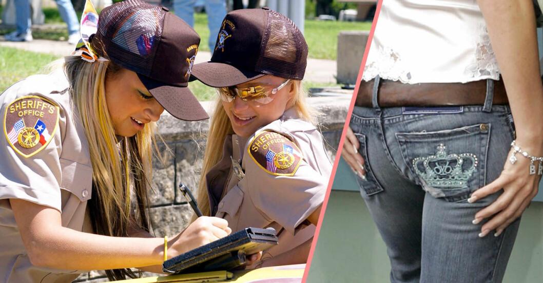 Nicole Richie och Paris Hilton och Victoria Beckhams jeans Roch and republic