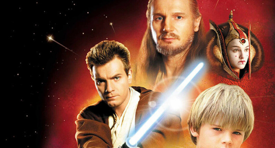 Liam Neeson, Ewan McGregor, Jake Lloyd och Natalie Portman i Star Wars: Episod 1.