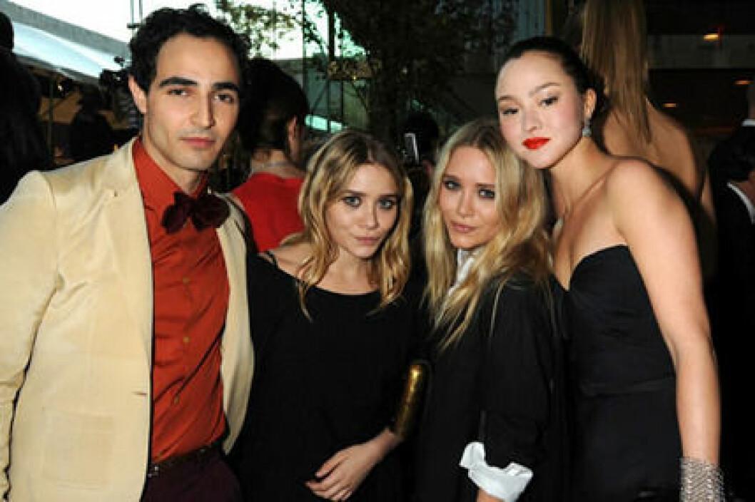 Zac Posen, tvillingarna Olsen och Devon Aoki på CDFA Fashion Awards.