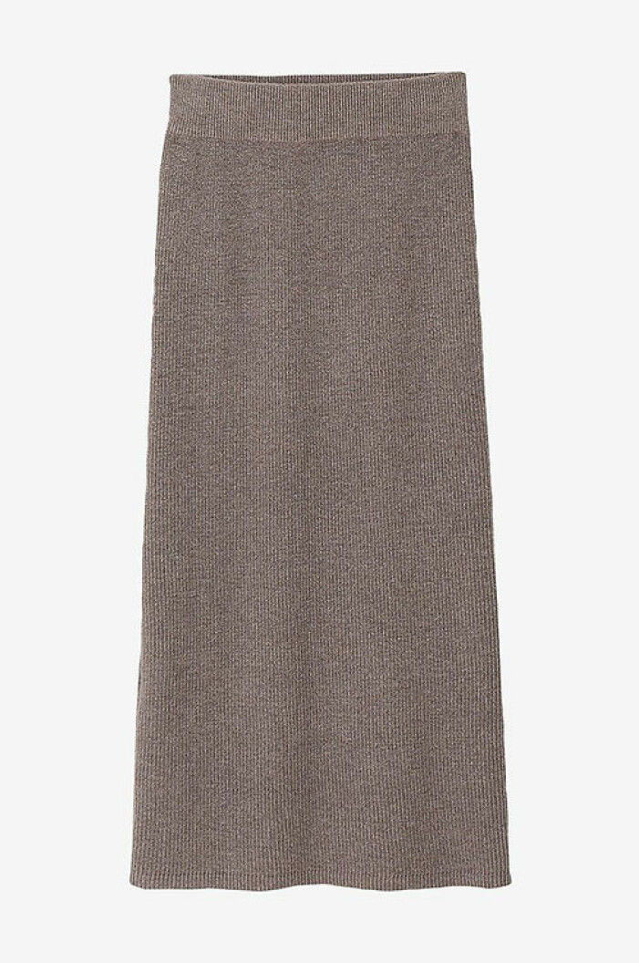 Stickad grå kjol från La Redoute Collections