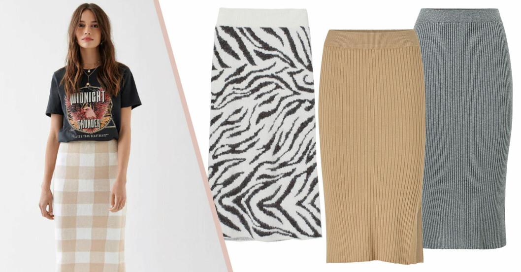 Stickade kjolar för dam till 2019