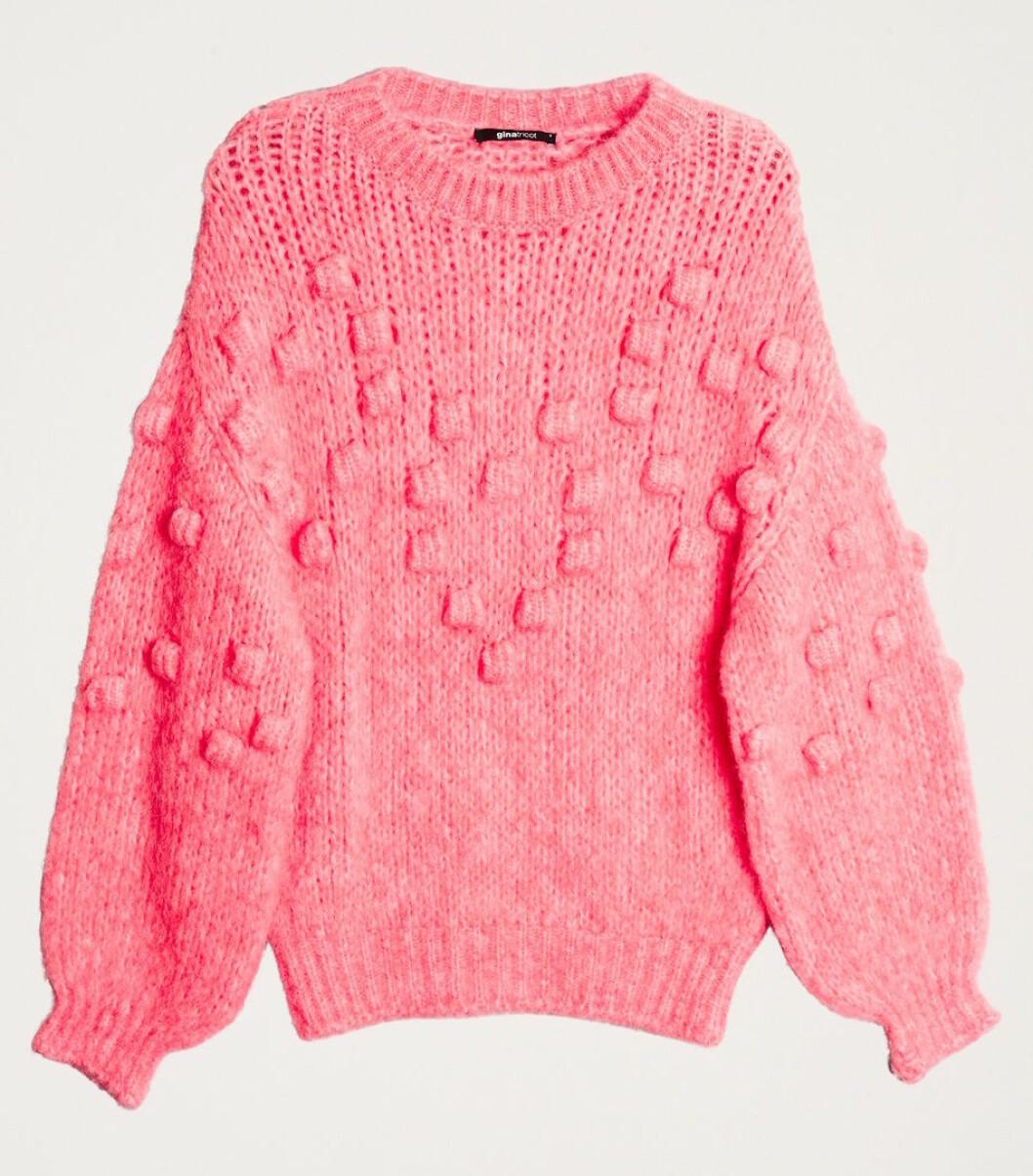 Rosa stickad tröja till vintern