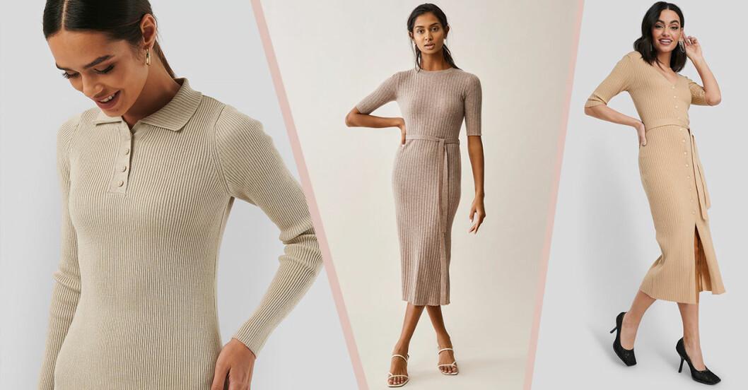 Stickade klänningar för dam till våren och sommaren 2020