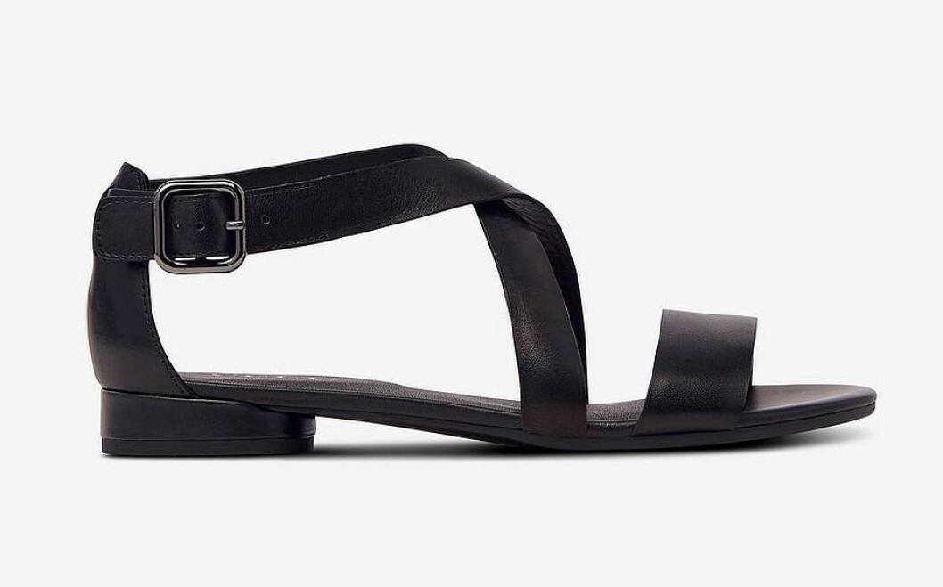 Stilrena svarta sandaler för dam till 2020
