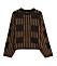 Brun stickad tröja från Gina tricot