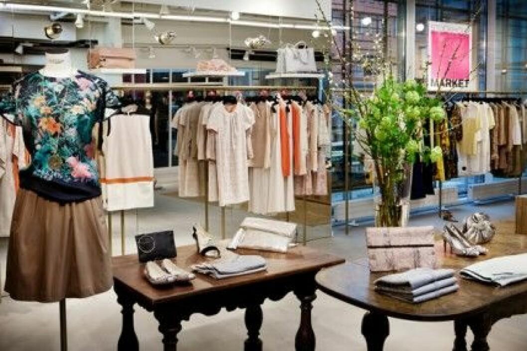 Stockholm Markets butik i MOOD Stockholm är 155 kvadratmeter stor.
