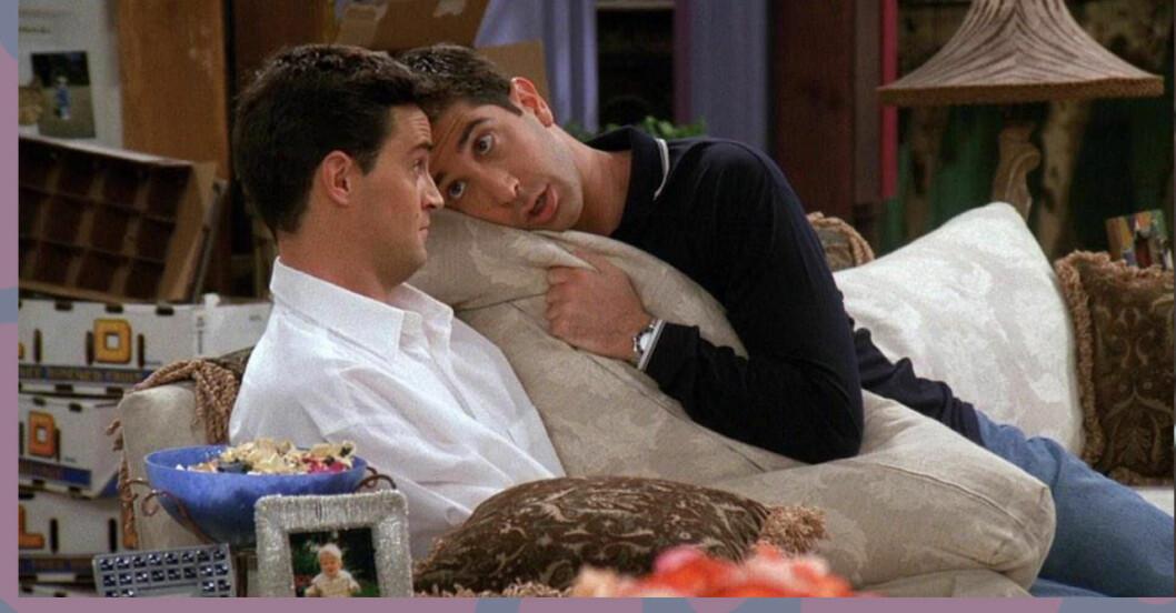 "Ross visar Chandler ""Hug and roll"""