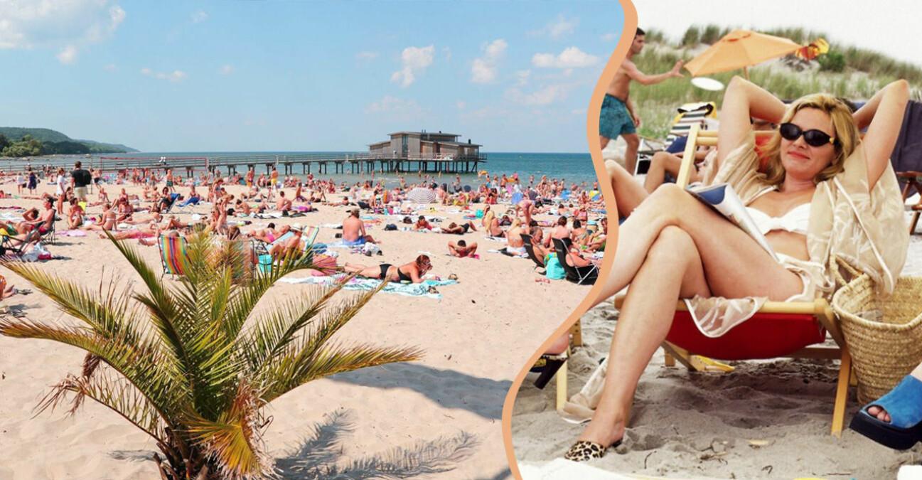 fullproppad strand och Samantha i SATC