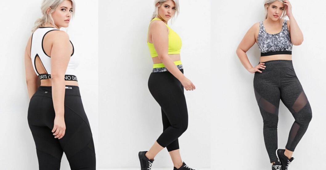 större storlekar träningskläder butik
