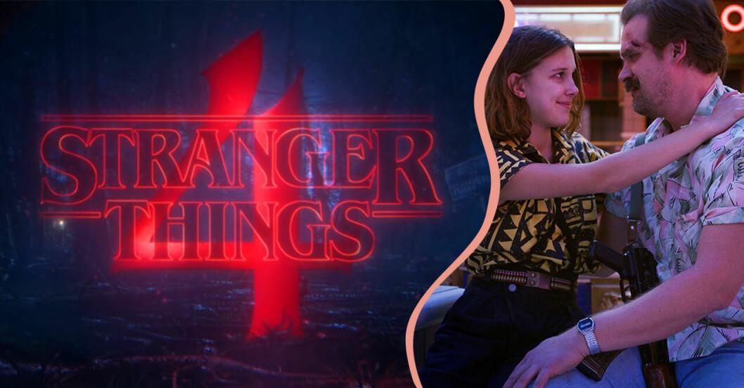 Stranger Things 4 med Hopper och Eleven.