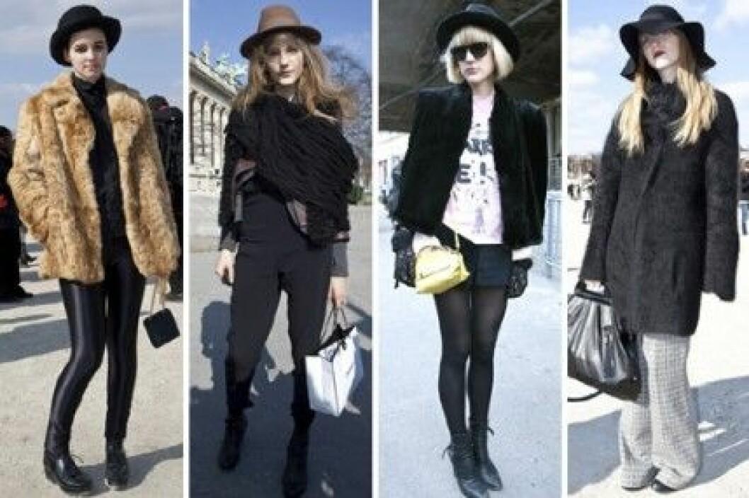 Hattar under Paris Fashion Week, A/W 2010.
