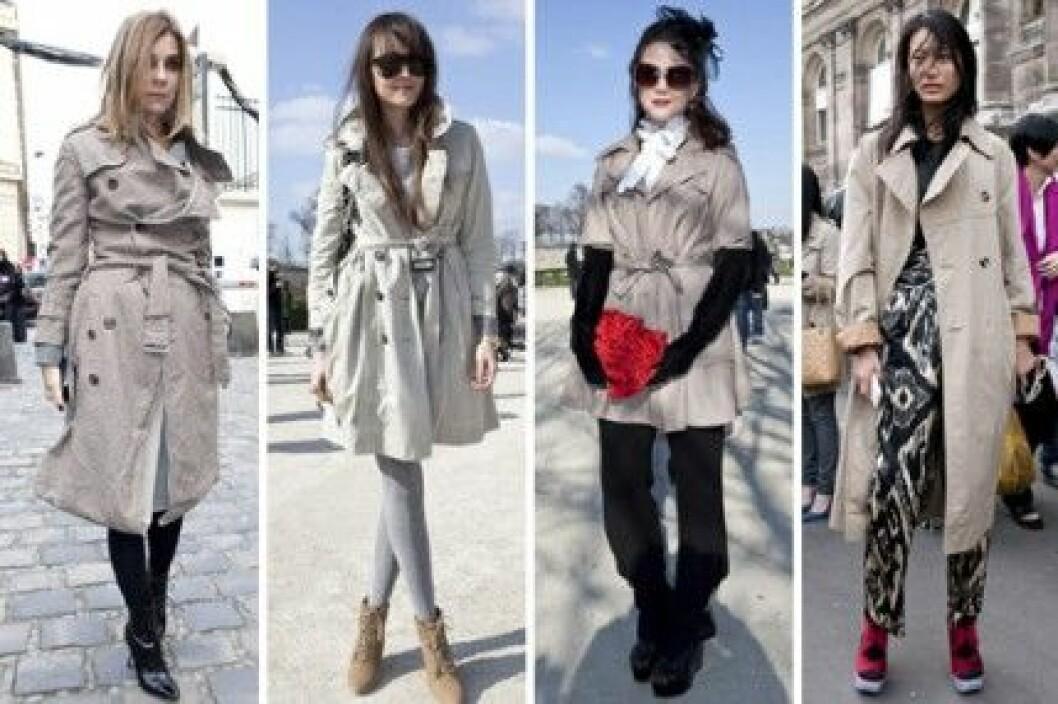 Trenchcoats under Paris Fashion Week, A/W 2010.