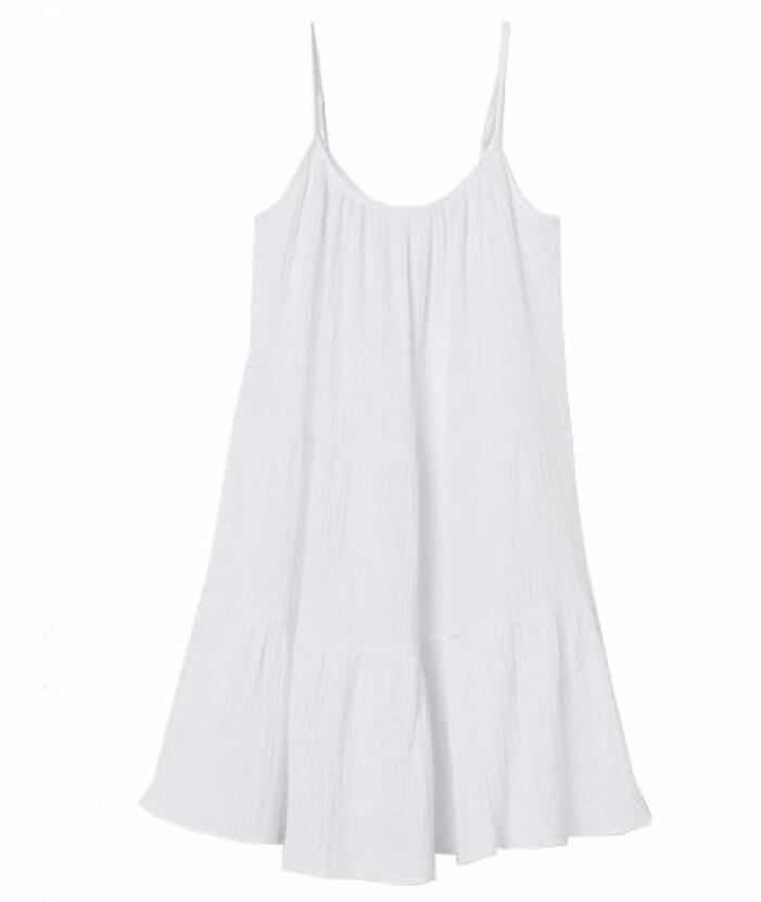 Vit klänning student smala axelband