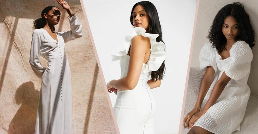 Fina studentklänningar vita klänningar 2021