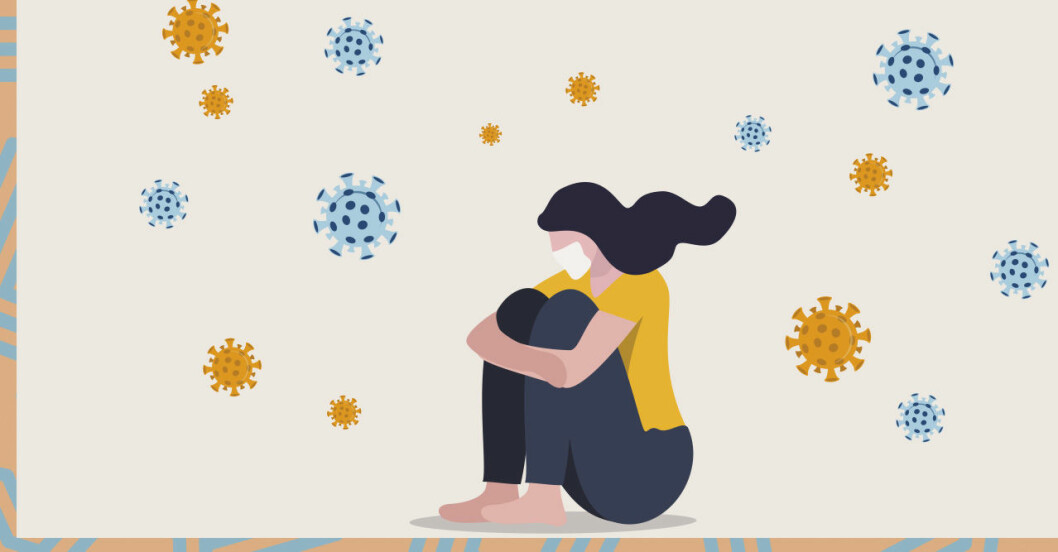 Studie visar: En av fem med corona får psykiska besvär