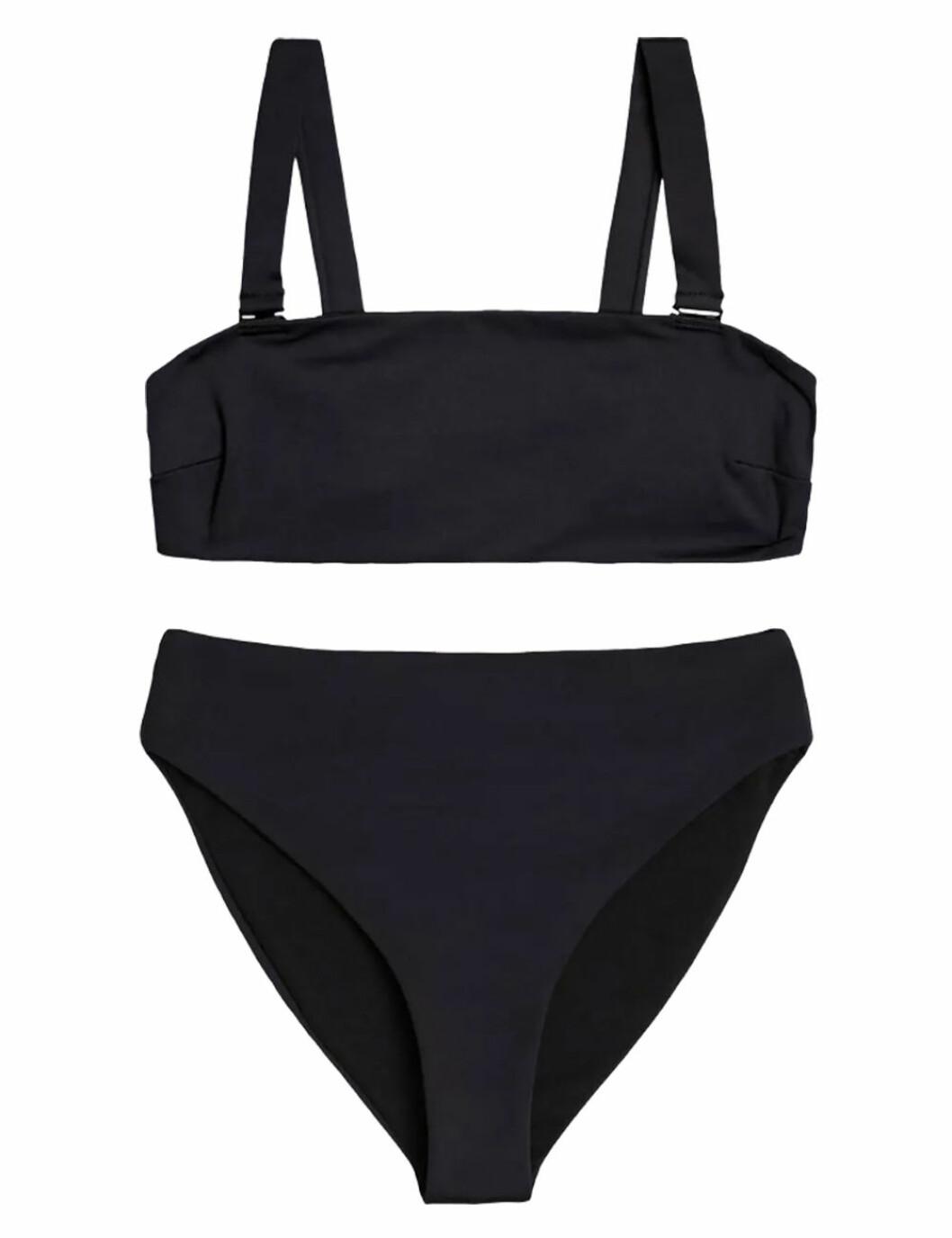 Svart bikini med hög midja till sommaren 2019