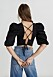 Svart blus med öppen rygg och knytning från Gina tricot